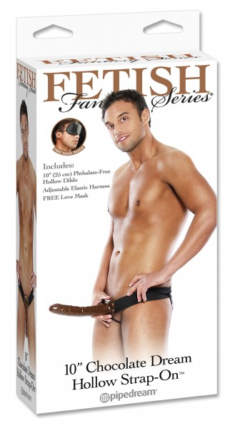 Fetish Fantasy 10 Chocolate Hollow Strap On