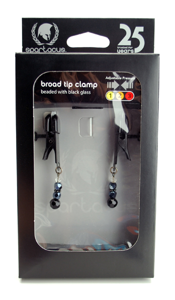 Clamp Black Broad Tip W/beads