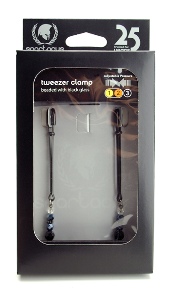 Tweezer Clamp Black W/beads