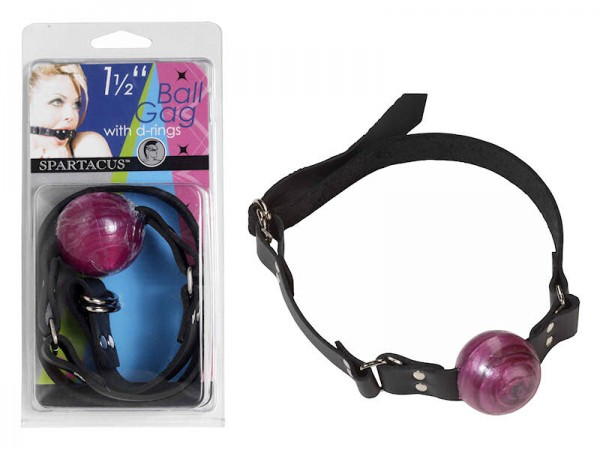 1 1/2  Purple Ball Gag W/ Buckle
