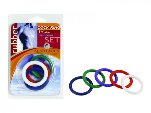 1 1/4 Soft C Rings Rainbow