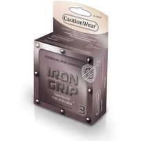 Iron Grip Snugger Fit Lubricated Condom 3pk