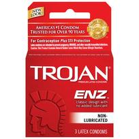 Trojan Enz Regular 3pk(non-lube)