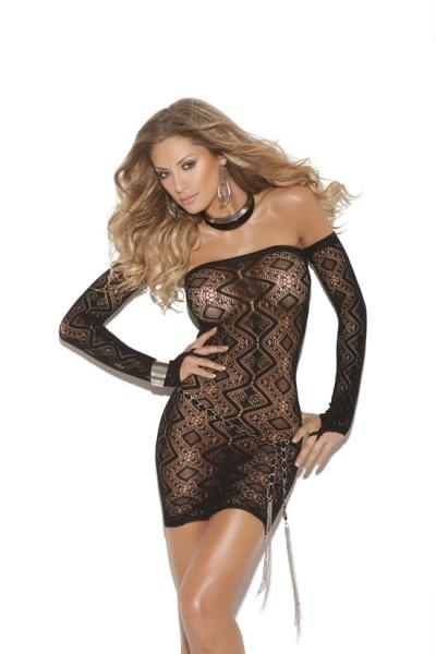 Vivace Dress & Gloves Black O/s