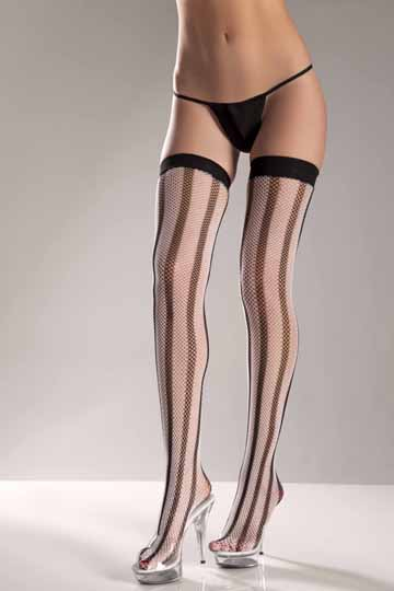 Vertical Striped Thigh High