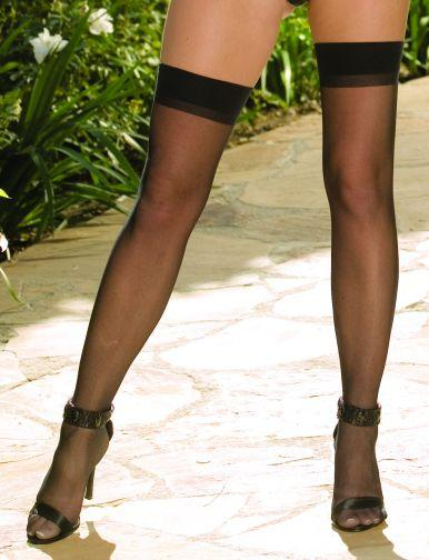 Thigh High Sheer Black Os moulin