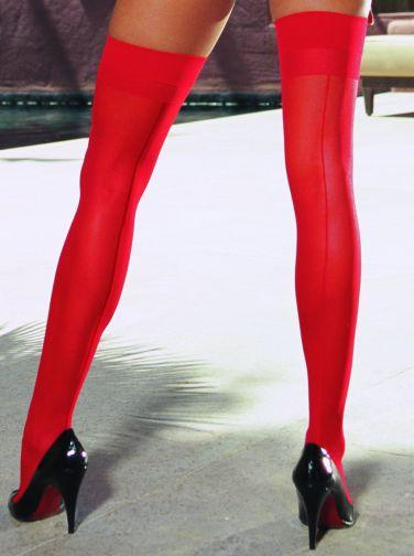 Thigh High Sheer Red Os moulin