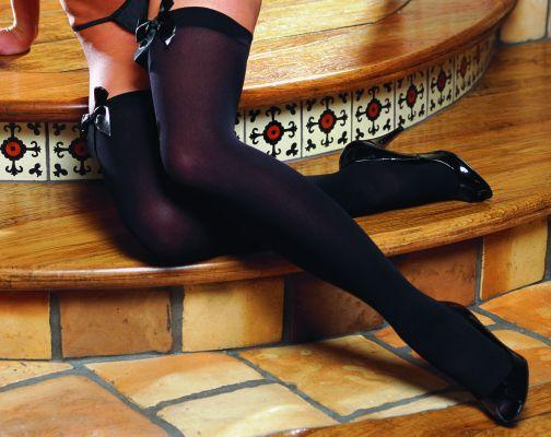 Thigh High With Bow Black Os kiev