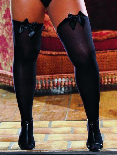 Thigh High With Bow Black Os Queen kiev