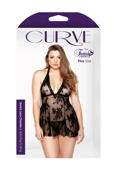 Lace Chemise & G String 3x4x