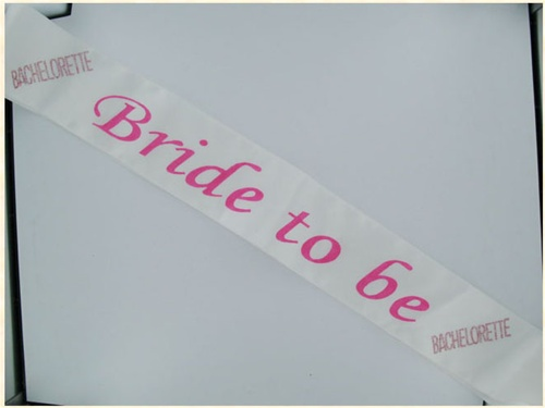 Bride 2b Flash Sash Pink