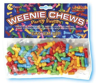 Weenie Chews Penis Candy 125pcs