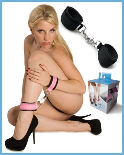 Neoprene Pink On Black Cuffs