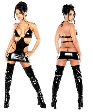 Mini Cut Out Dress/ G-set Black L/x
