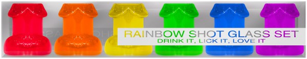 Rainbow Shot Glass Set 6pc