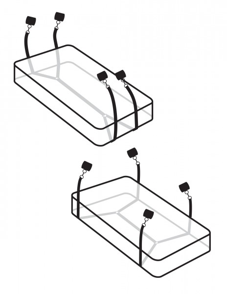 Fetish Fantasy Wraparound Mattress Restraints
