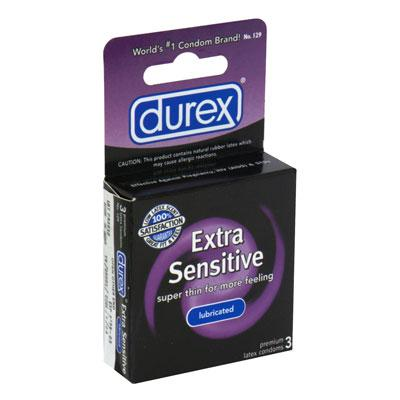 Durex Extra Sensitive Lubricated 3pk