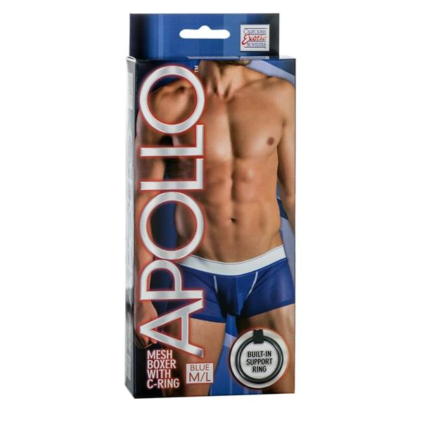 Apollo Mesh Boxer W/cring Blue M/l