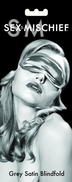 S&m Gray Satin Blindfold