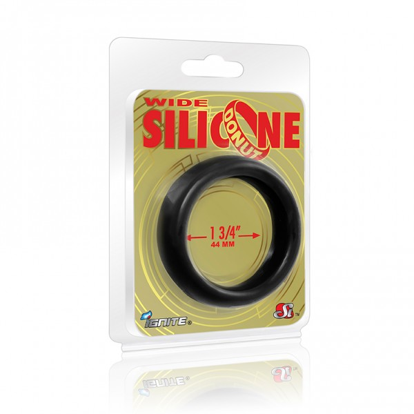 Wide Silicone Donut Black 1.75