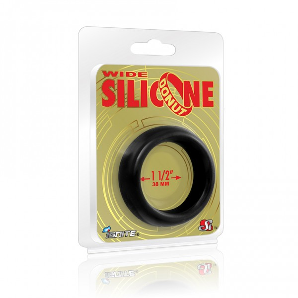 Wide Silicone Donut Black 1.5