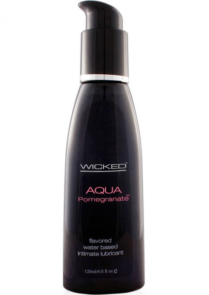 Wicked Aqua Pomegranate Lube 4oz