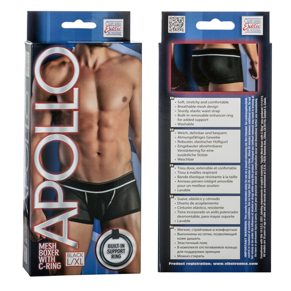 Apollo Mesh Boxer W/cring Black L/xl