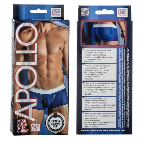 Apollo Mesh Boxer W/cring Blue L/xl