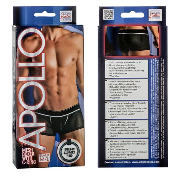 Apollo Mesh Boxer W/cring Black M/l
