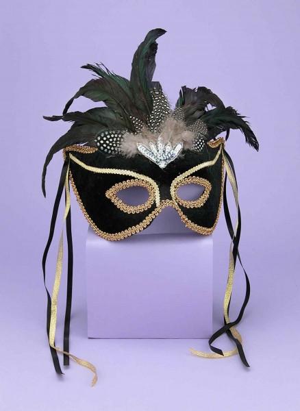 Half Mask Karneval Black
