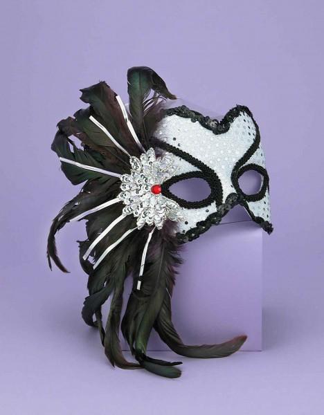 Half Mask Karneval Silver