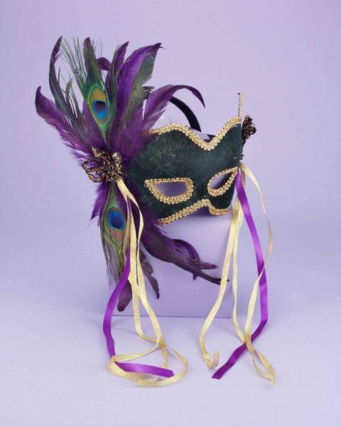 Half Mask Karneval Green