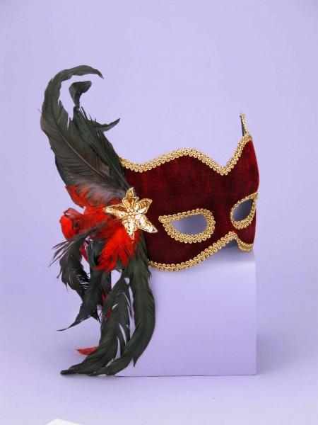 Half Mask Karneval Maroon