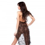 Halter Bias Cut Lace Dress O/s Black(out 12-14)